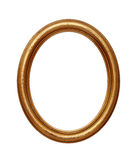 Goldener ovaler runder Bilderrahmen der Weinlese Lizenzfreie Stockfotografie