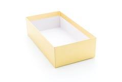 goldener Papierkasten Stockbild