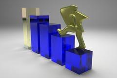 Goldener Pfeil Lizenzfreie Stockbilder