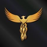 Goldener Phoenix-Vogel Lizenzfreies Stockbild