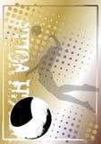 Goldener Plakathintergrund 5 des Volleyballs lizenzfreie abbildung