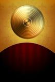 Goldener Platten-Hintergrund lizenzfreie abbildung