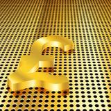 Goldener Pound-Hintergrund stock abbildung