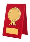 Goldener Preis mit Leerzeichen für Ihren Text Stockbild