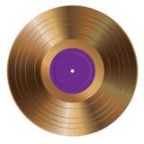 Goldener purpurroter Aufkleber LPs Stockbild