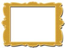Goldener quadratischer Rahmen auf weißem Hintergrund Lizenzfreie Abbildung