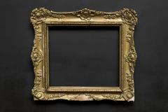 Goldener Rahmen der alten aufwändigen Weinlese stockfotos