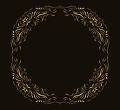 Goldener Rahmen für Einladungen, Aufkleber und Menüs stock abbildung