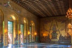 Goldener Raum mit Mälardrottning Stockbild
