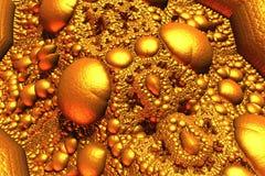 Goldener reflektierender Fractal lizenzfreie stockfotos