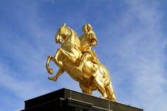 Goldener Reiter在德累斯顿,萨克森 库存图片