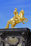 Goldener Reiter στη Δρέσδη, Σαξωνία στοκ εικόνα