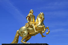 Goldener Reiter στη Δρέσδη, Σαξωνία στοκ εικόνες