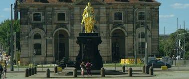 Goldener Reiter, caballero de oro, estatua ecuestre de agosto el fuerte almacen de metraje de vídeo