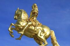 Goldener Reiter w Drezdeńskim, Saxony zdjęcie royalty free