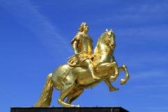 Goldener Reiter w Drezdeńskim, Saxony fotografia royalty free