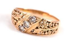 Goldener Ring Stockbild