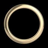 Goldener Ring auf schwarzem Hintergrund Stockfotos