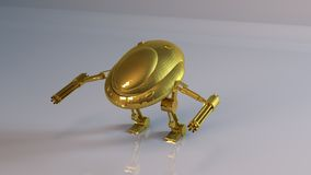 Goldener Roboter Lizenzfreie Stockfotos