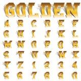 Goldener Rollenguß Stockfoto