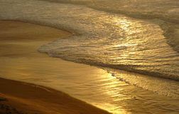Goldener Sand stockfoto