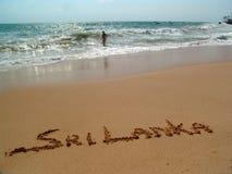 Goldener Sand Stockbild