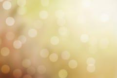 Goldener Schein bokeh Hintergrund Lizenzfreies Stockbild