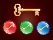 Goldener Schlüssel Lizenzfreie Stockbilder