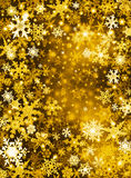 Goldener Schnee-Hintergrund Stockfoto