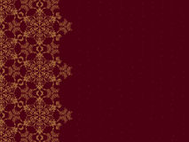 Goldener Schneeflockerand Stockfoto