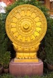 Goldener Schongebietgrenzstein Se-MA in Lampang, Thailand Lizenzfreie Stockfotografie