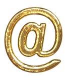 Goldener Schrifttyp. ?? Am Zeichen vektor abbildung