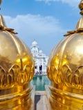 Goldener Sikhtempel Stockfotos