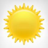 Goldener Sonnenclipartvektor lokalisiert Lizenzfreie Stockfotos