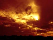 Goldener Sonnenuntergang Stockfotografie