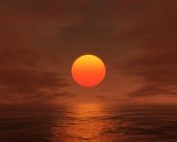 Goldener Sonnenuntergang lizenzfreie stockfotografie