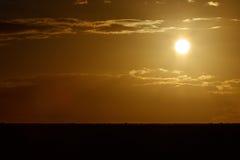 Goldener Sonnenuntergang - Addo Landscape Lizenzfreies Stockfoto