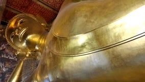 Goldener stützender Buddha Stockfoto