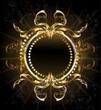 Goldener Stammes- Rahmen Stockbild