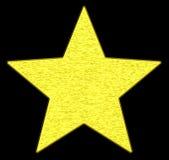 Goldener Stern Stockfoto