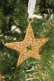 Goldener Stern der Dekoration stockbilder