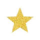 Goldener Stern des Funkelns stock abbildung