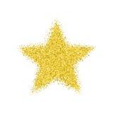 Goldener Stern des Funkelns lizenzfreie abbildung