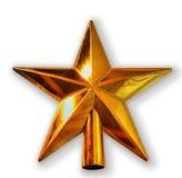Goldener Stern des neuen Jahres auf Weiß Stockbild