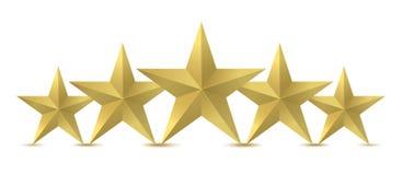 Goldener Stern fünf Stockfotos