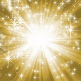 Goldener sternenklarer Hintergrund Stock Abbildung