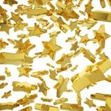 Goldener Sternfall Stockfoto