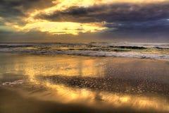 Goldener Strand stockfoto