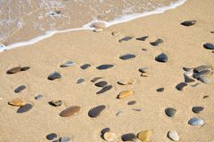 Goldener Strand Stockfotos