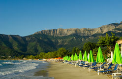 Goldener Strand, Thassos-Insel, Griechenland. Lizenzfreie Stockfotos
